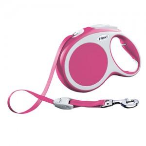 Flexi Rollijn Vario - Tape Leash - L (5 m) - Roze