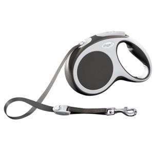 Flexi Rollijn Vario - Tape Leash - M (5 m) - Antraciet/ grijs