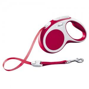 Flexi Rollijn Vario - Tape Leash - S (5 m) - Rood