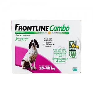 Frontline Combo Hond L (20-40 kg) - 4 (plus 2 gratis) pipetten