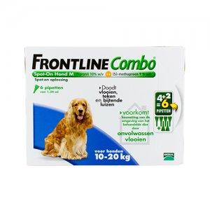 Frontline Combo Hond M (10-20 kg) - 4 (plus 2 gratis) pipetten
