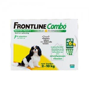 Frontline Combo Hond S (2-10 kg) - 4 (plus 2 gratis) pipetten