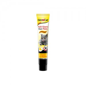 GimCat Multi-Vitamin Duo Paste - Cheese & 12 Vitamins - 50 gr