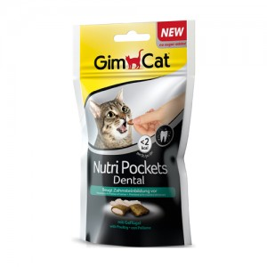 GimCat Nutri Pockets Dental – 60 gram