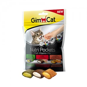 GimCat Nutri Pockets Malt – Vitamin Mix – 150 gram