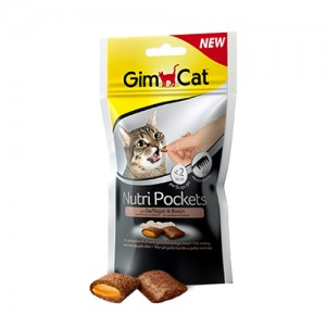 GimCat Nutri Pockets with Poultry and Biotin - 60 gram