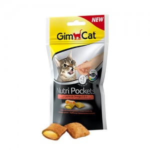 GimCat Nutri Pockets with Salmon and Omega 3 & 6 - 60 gram