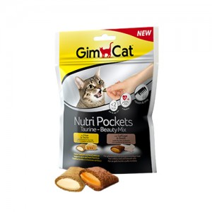 GimCat Nutri Pockets Taurine – Beauty Mix – 150 gram
