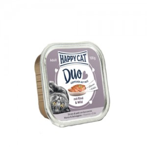 Happy Cat - Duo Menu Rind & Wild (Rund & Wild) - 12 x 100 g
