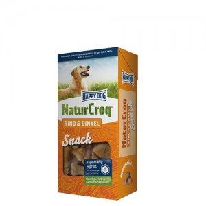 Happy Dog NaturCroq Snacks – Rind & Dinkel – 5 x 350g