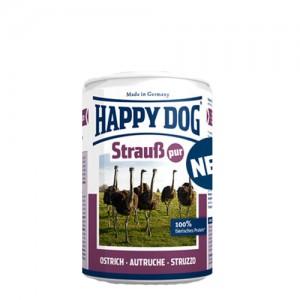 Happy Dog Strauß Pur - struisvogelvlees - 12x400g