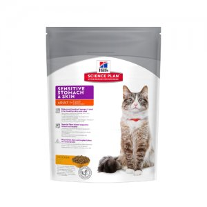 Hill's Feline Adult Sensitive Stomach And Skin 400 g Kattenvoer