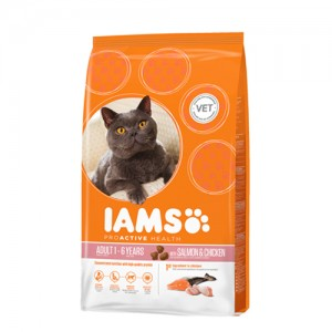IAMS Adult Cat Salmon & Chicken 1.5kg