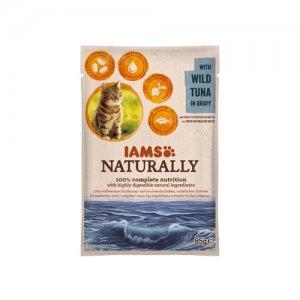 IAMS Naturally Cat - Wild Tuna in Gravy 24 x 85 g