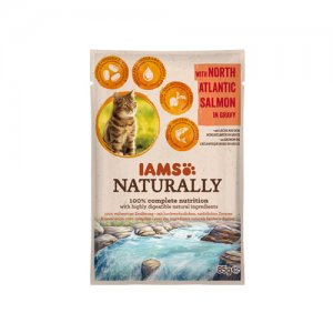 IAMS Naturally Cat - North Atlantic Salmon in Gravy 24 x 85 g