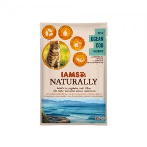 IAMS Naturally Cat - Ocean Cod in Gravy 24 x 85 g