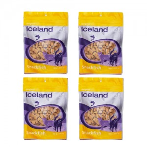 Iceland Pet Cat Treat Original Snackfish 4 x 100g