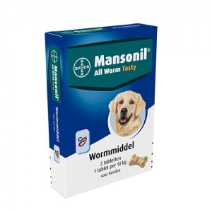 Mansonil All Worm Tasty - 2 tabletten