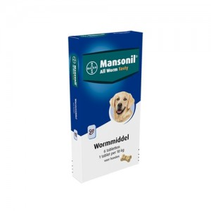 Mansonil All Worm Tasty - 6 tabletten