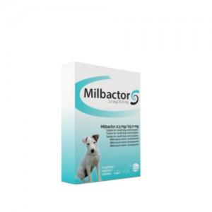 Milbactor voor kleine honden en pups - 4 tabletten