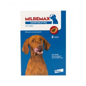 Milbemax Kauwtablet grote hond 4 tabl.
