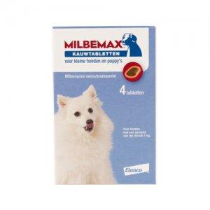 Milbemax Kauwtablet kleine hond 4 tabl.