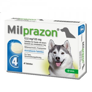 Milprazon grote hond (12,5 mg) - 4 tabletten