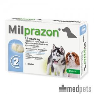 Milprazon kleine hond (2,5 mg) - 2 tabletten T.H.T. 01-2018