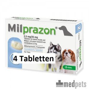 Milprazon kleine hond (2,5 mg) - 4 tabletten
