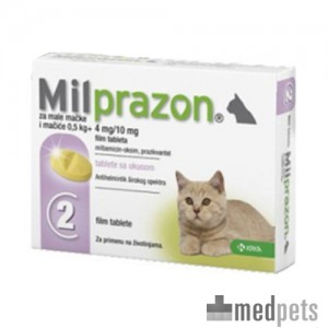 Milprazon kleine kat (4 mg) - 2 tabletten
