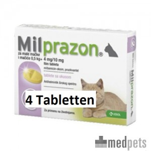 Milprazon kleine kat (4 mg) - 4 tabletten