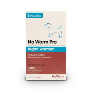 No Worm Pro Kleine Hond en Puppy - 2 tabletten