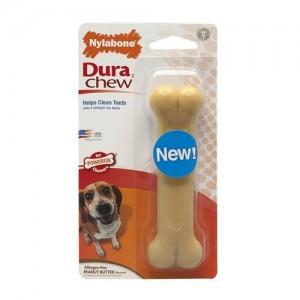 Nylabone Dura Chew Peanut Butter Hondenkluif - Wolf (Tot 16 kg)