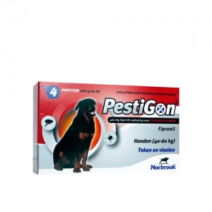 Pestigon Spot-on! hond (40-60 kg) 4 x 4,02 ml
