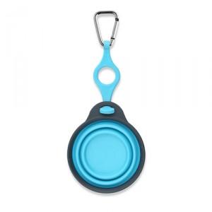 Popware Travelcup met Flesjeshouder - Blauw - 237 ml.