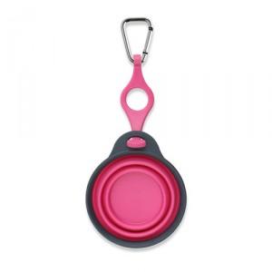 Popware Travelcup met Flesjeshouder – Roze – 237 ml