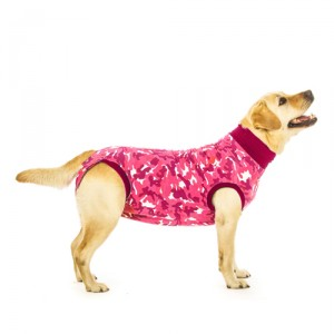 Suitical Recovery Suit Hond - S Plus - Roze Camouflage