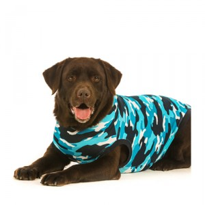 Suitical Recovery Suit Hond - S Plus - Blauw Camouflage