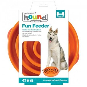 Outward Hound - Fun Feeder Coral - Orange