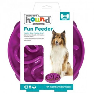 Outward Hound - Fun Feeder Flower - Purple