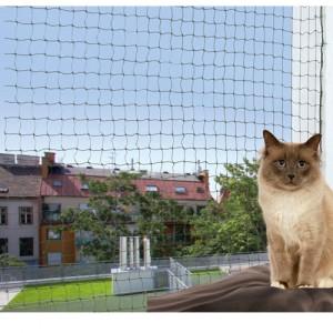 Trixie Net voor Balkon Reinforced - Olijfgroen - 4 x 3 m