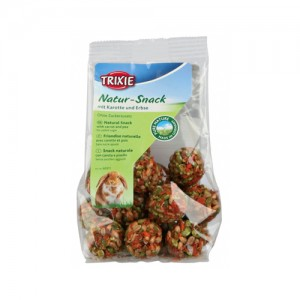 Trixie Pure Nature Snack Balls - Wortel Erwt