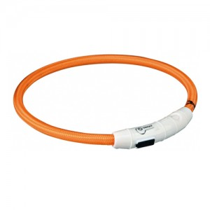 Trixie USB Flash Light Ring - M/L - Oranje