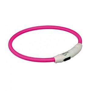 Trixie USB Flash Light Ring - M/L - Roze