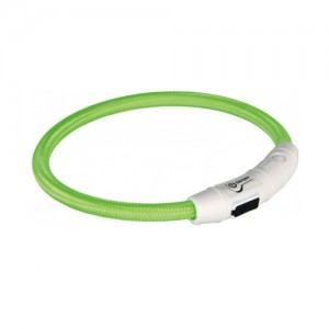 Trixie USB Flash Light Ring - XS/S - Groen