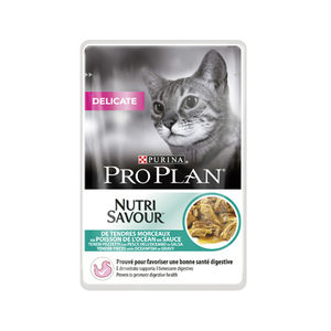 Pro Plan Cat Nutri Savour Delicate Multipack Oceaanvis 10x85 g Kattenvoer