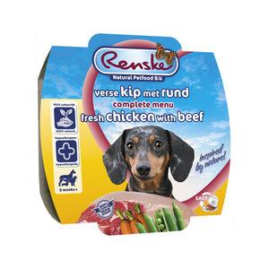Renske Vers Vlees - Kip met rund - 8 x 100 gram