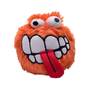 Rogz Fluffy Grinz Ball - Medium - Orange
