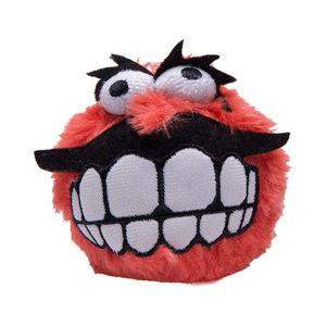 Rogz Fluffy Grinz Ball - Small - Red