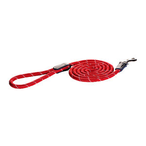 Rogz Rope Line Fixed Lead - Rood - 180 cm / 6 mm